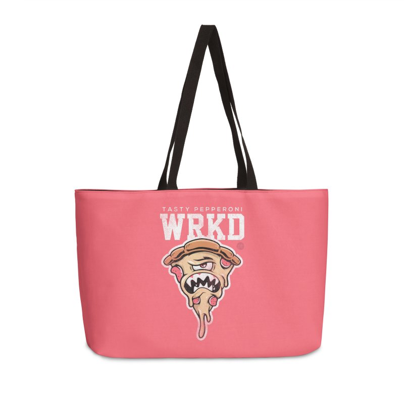 Tasty Pizza Accessories Weekender Bag Bag by Johnny Terror's Art Shop