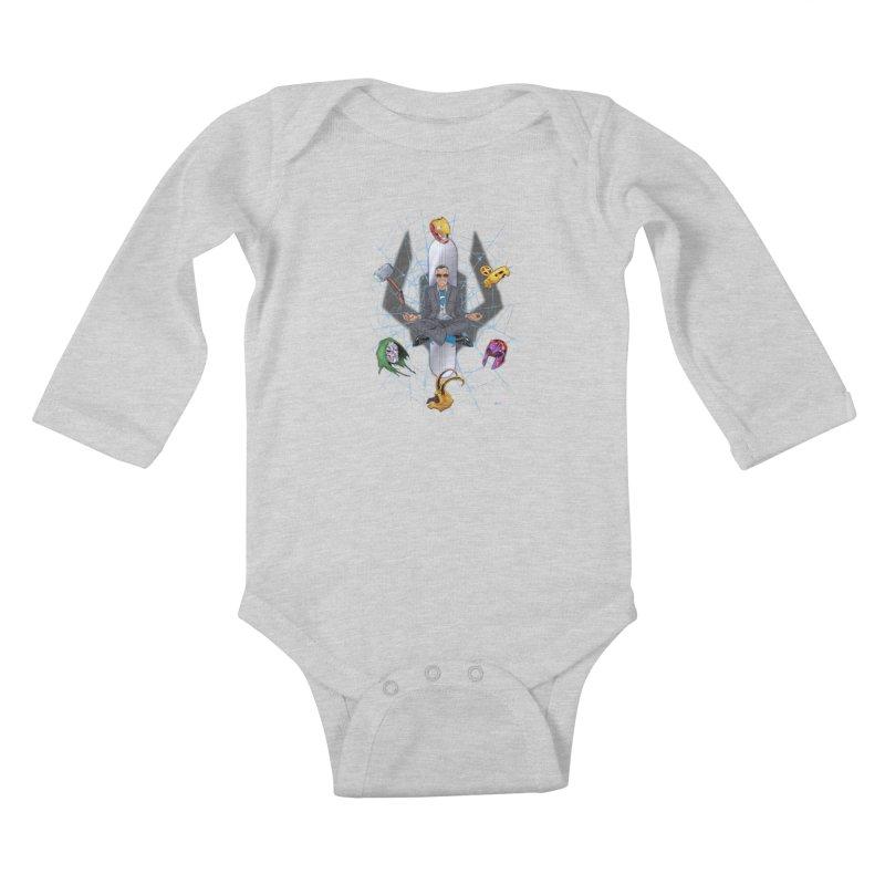 Stan The Man Kids Baby Longsleeve Bodysuit by The Art of Warlick