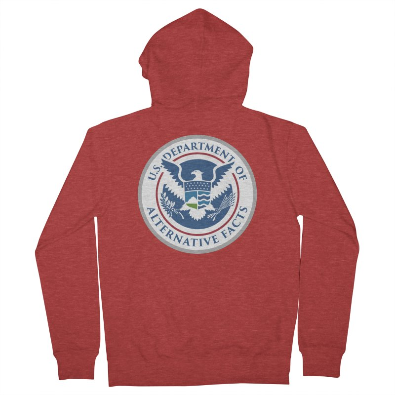 U.S. Department Of Alternative Facts Men's Zip-Up Hoody by The Art of Warlick