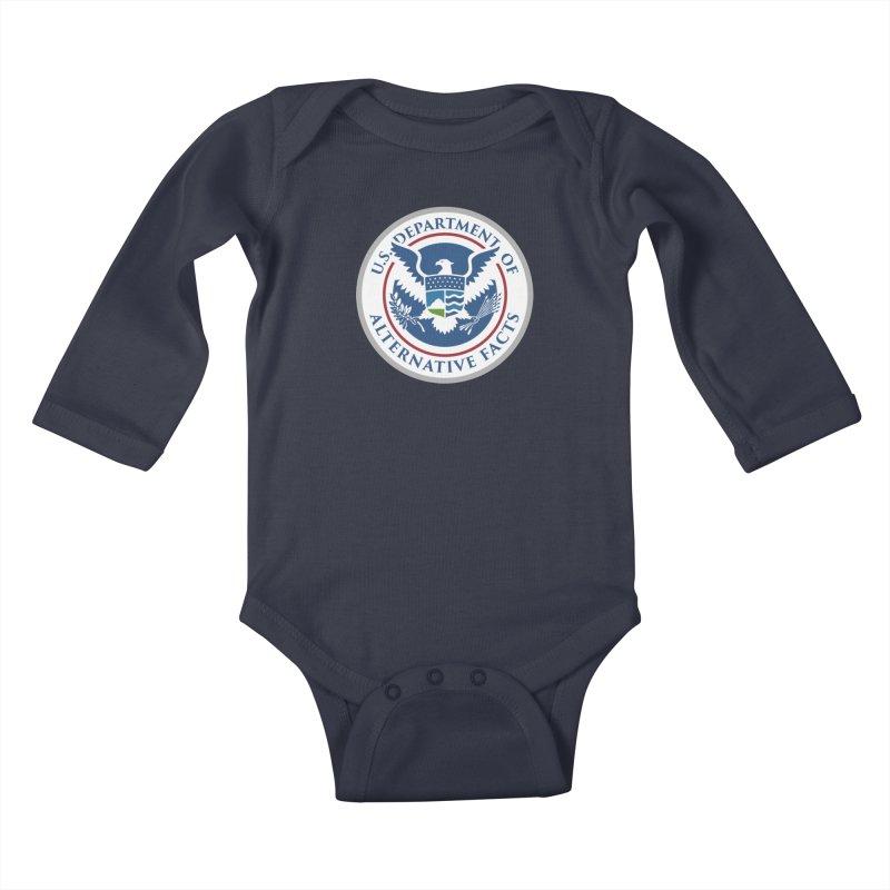U.S. Department Of Alternative Facts Kids Baby Longsleeve Bodysuit by The Art of Warlick