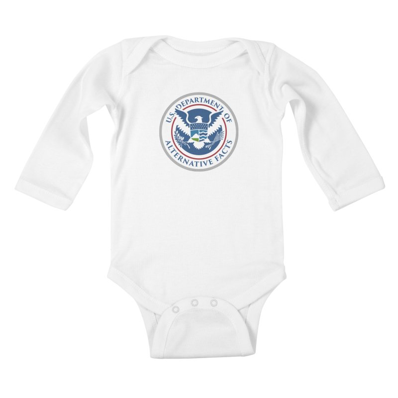U.S. Department Of Alternative Facts Kids Baby Longsleeve Bodysuit by The Art of Warlick