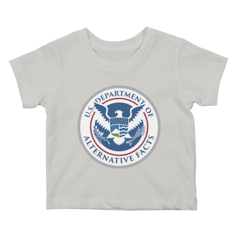 U.S. Department Of Alternative Facts Kids Baby T-Shirt by The Art of Warlick