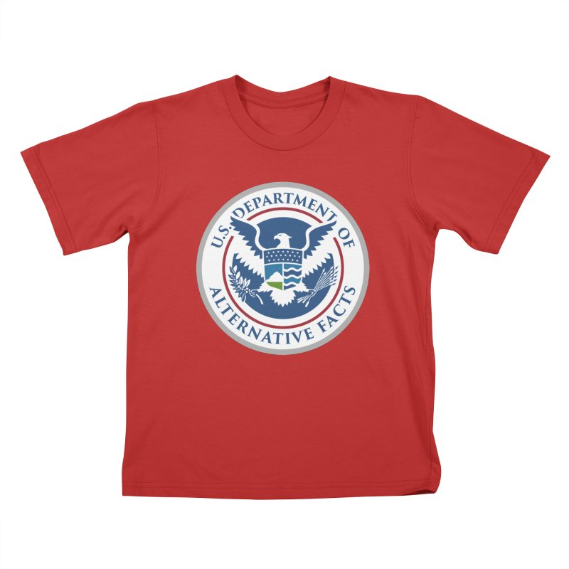 U.S. Department Of Alternative Facts Kids T-Shirt by The Art of Warlick