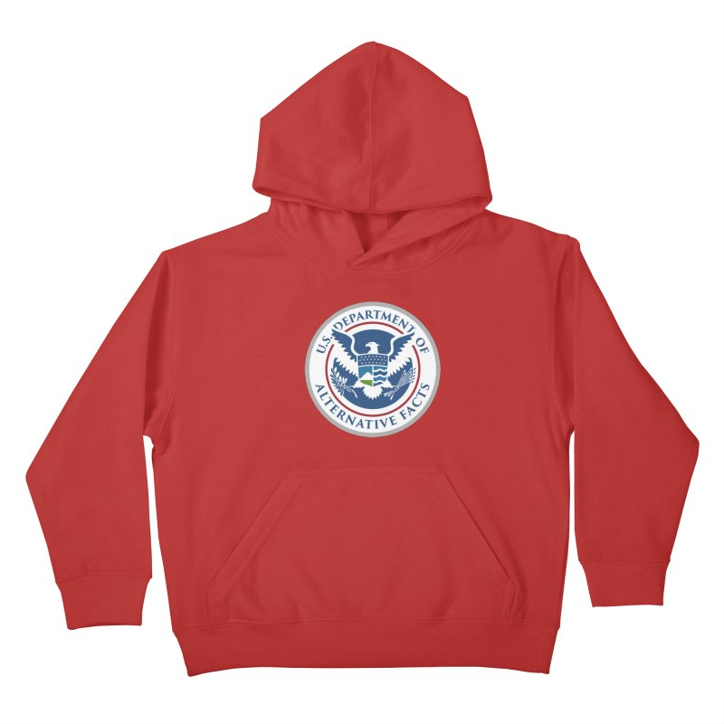 U.S. Department Of Alternative Facts Kids Pullover Hoody by The Art of Warlick