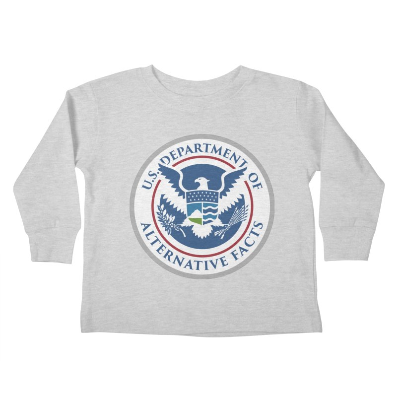 U.S. Department Of Alternative Facts Kids Toddler Longsleeve T-Shirt by The Art of Warlick