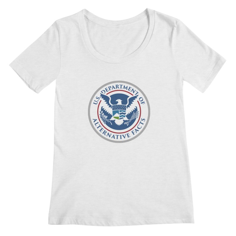 U.S. Department Of Alternative Facts Women's Scoopneck by The Art of Warlick