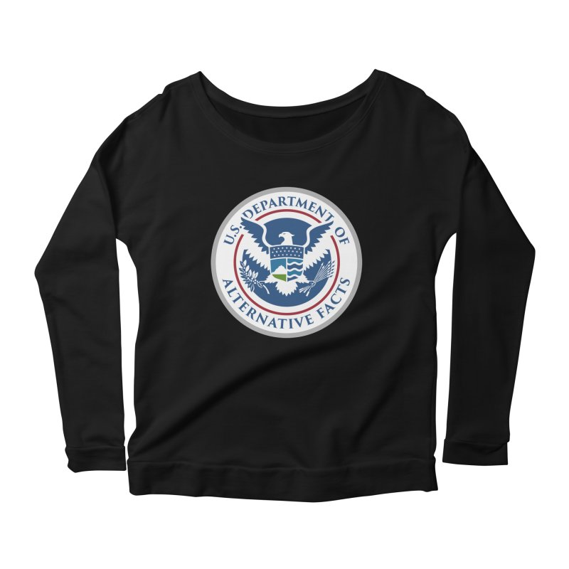 U.S. Department Of Alternative Facts Women's Longsleeve Scoopneck  by The Art of Warlick