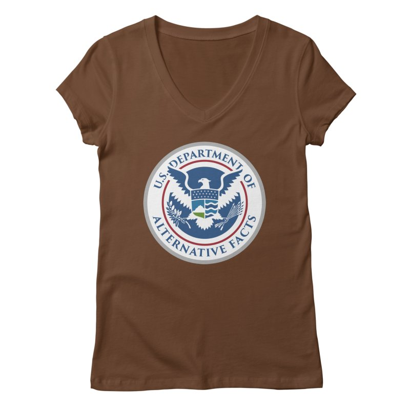 U.S. Department Of Alternative Facts Women's V-Neck by The Art of Warlick
