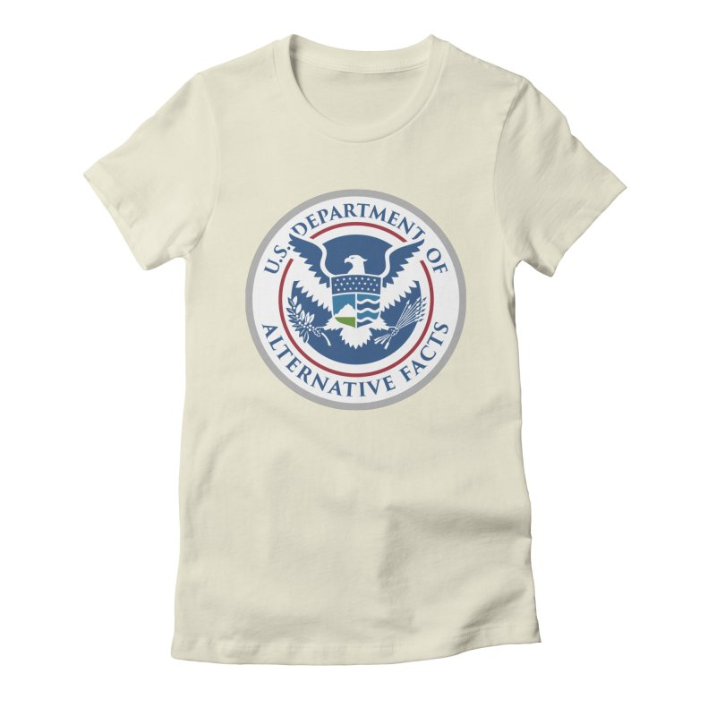 U.S. Department Of Alternative Facts Women's Fitted T-Shirt by The Art of Warlick