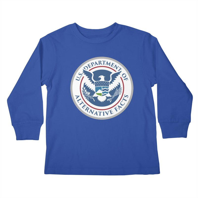 U.S. Department Of Alternative Facts Kids Longsleeve T-Shirt by The Art of Warlick