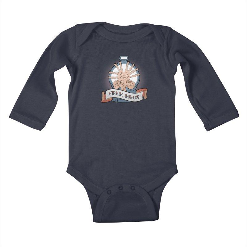 Free Hugs Kids Baby Longsleeve Bodysuit by The Art of Warlick
