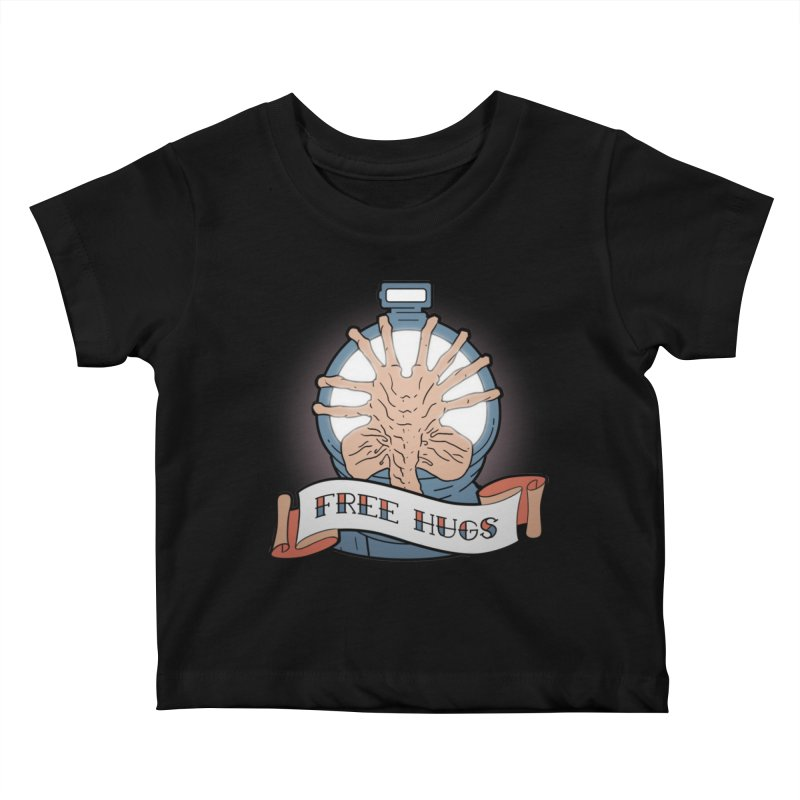 Free Hugs Kids Baby T-Shirt by The Art of Warlick