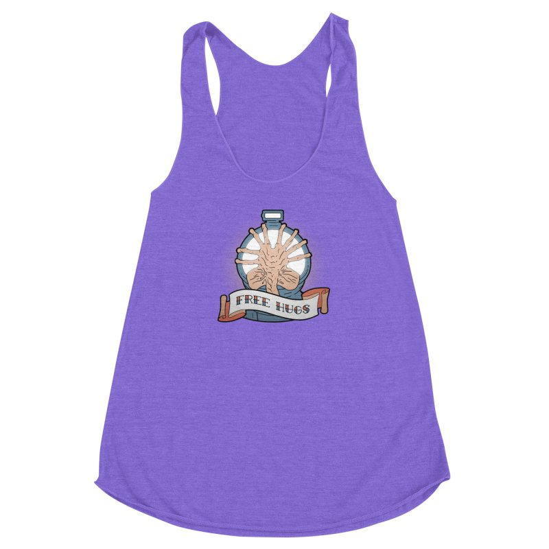 Free Hugs Women's Racerback Triblend Tank by The Art of Warlick