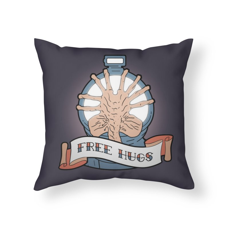 Free Hugs Home Throw Pillow by The Art of Warlick