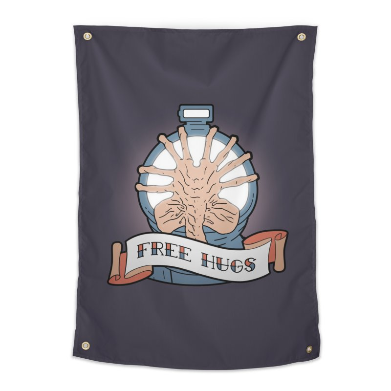 Free Hugs Home Tapestry by The Art of Warlick