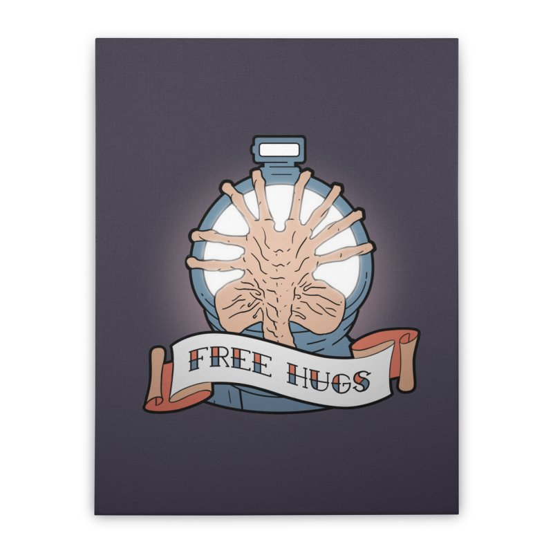 Free Hugs Home Stretched Canvas by The Art of Warlick