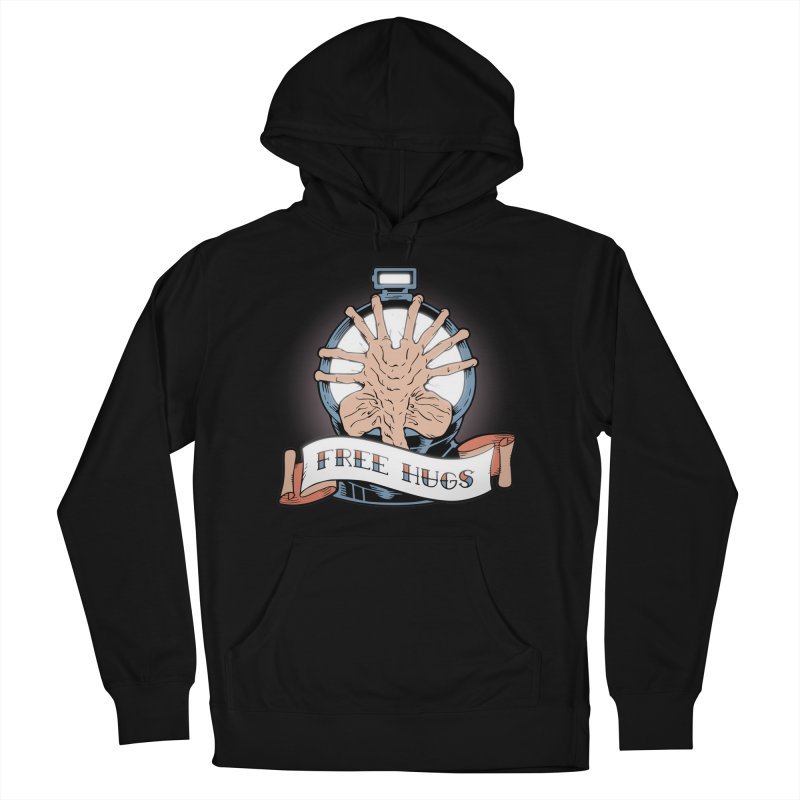 Free Hugs Men's French Terry Pullover Hoody by The Art of Warlick