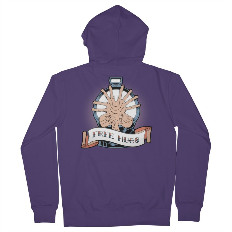Free Hugs Women's French Terry Zip-Up Hoody by The Art of Warlick
