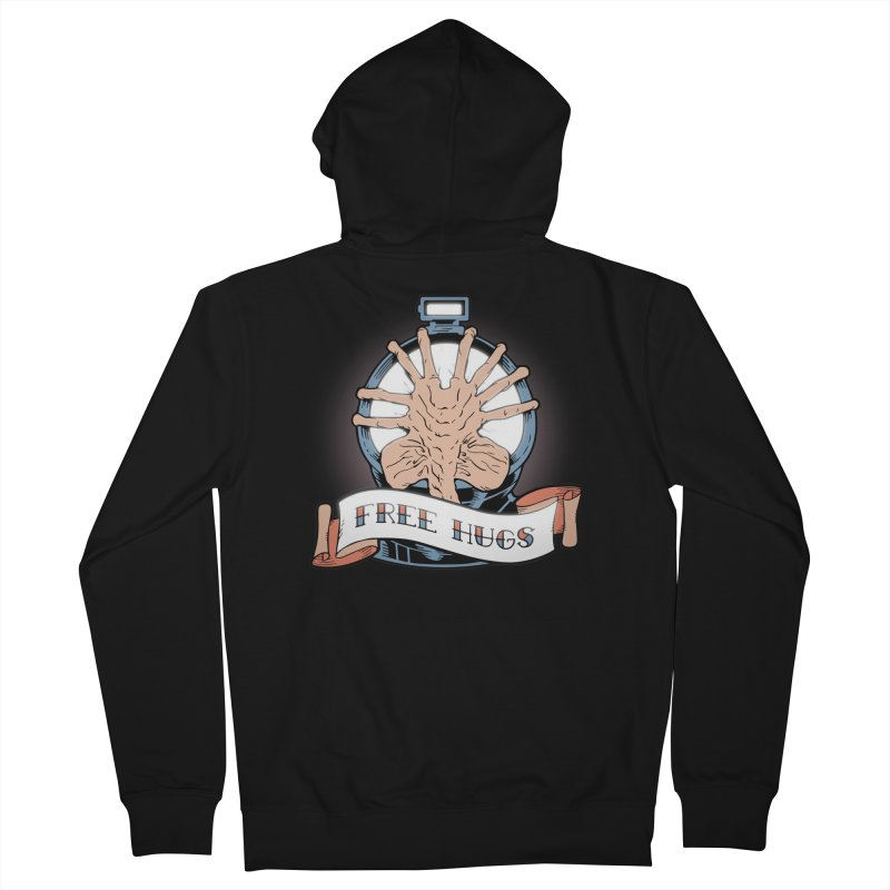Free Hugs Men's French Terry Zip-Up Hoody by The Art of Warlick
