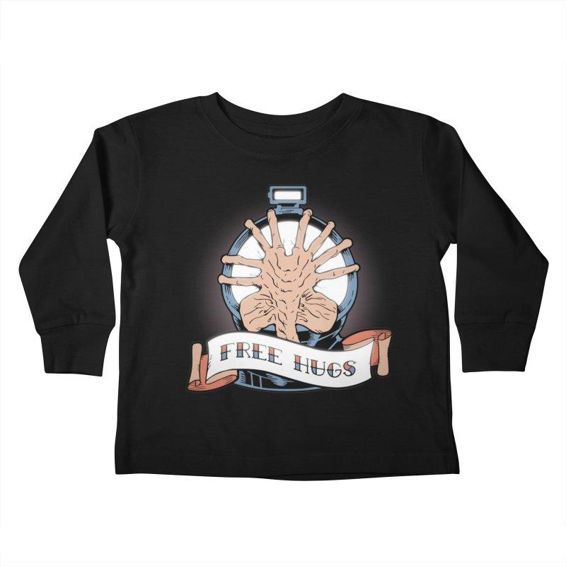 Free Hugs Kids Toddler Longsleeve T-Shirt by The Art of Warlick