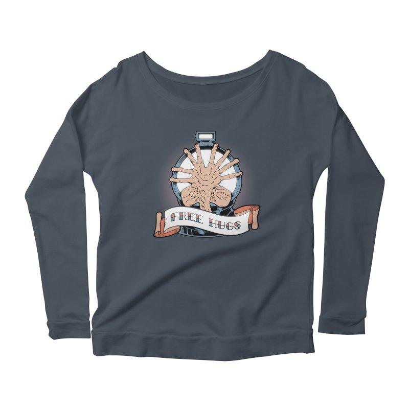 Free Hugs Women's Scoop Neck Longsleeve T-Shirt by The Art of Warlick