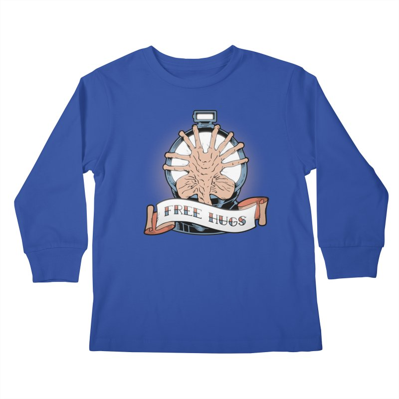 Free Hugs Kids Longsleeve T-Shirt by The Art of Warlick