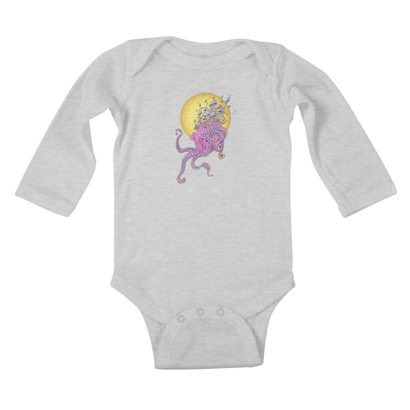 Cephalospore Kids Baby Longsleeve Bodysuit by The Art of Warlick