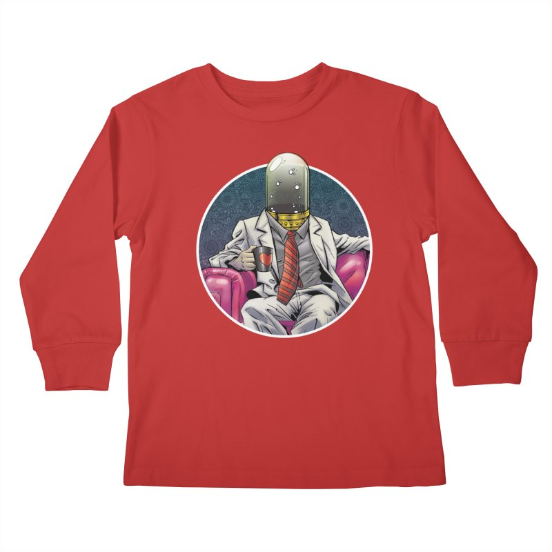 Material Vessel Kids Longsleeve T-Shirt by The Art of Warlick