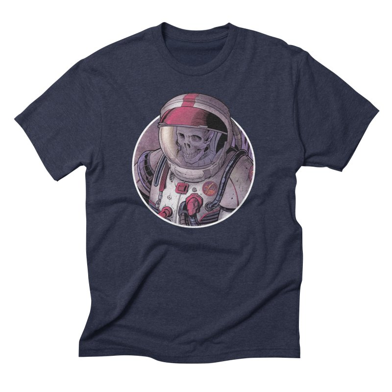 Stranded in Men's Triblend T-Shirt Navy by The Art of Warlick