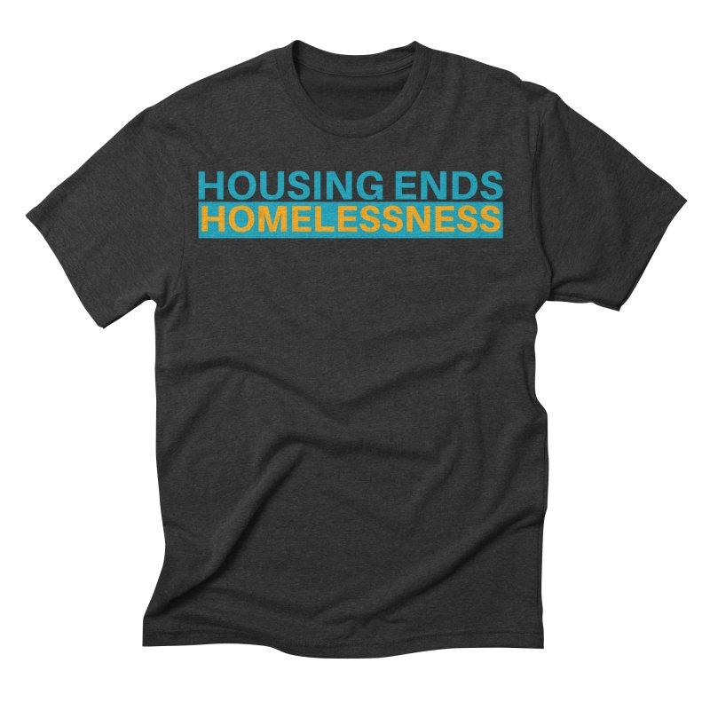 HOUSING ENDS IT Men's Triblend T-Shirt by warmwaynesboro's Artist Shop