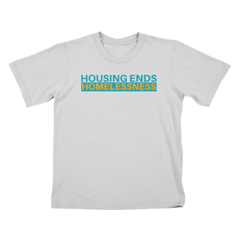 HOUSING ENDS IT Kids T-Shirt by warmwaynesboro's Artist Shop