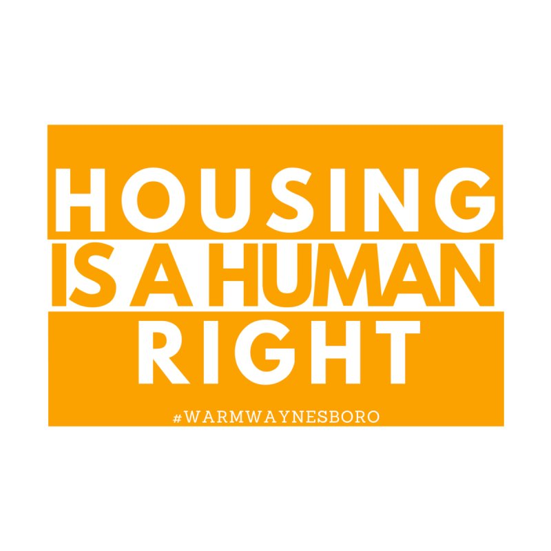Housing is a human right Women's Sweatshirt by warmwaynesboro's Artist Shop