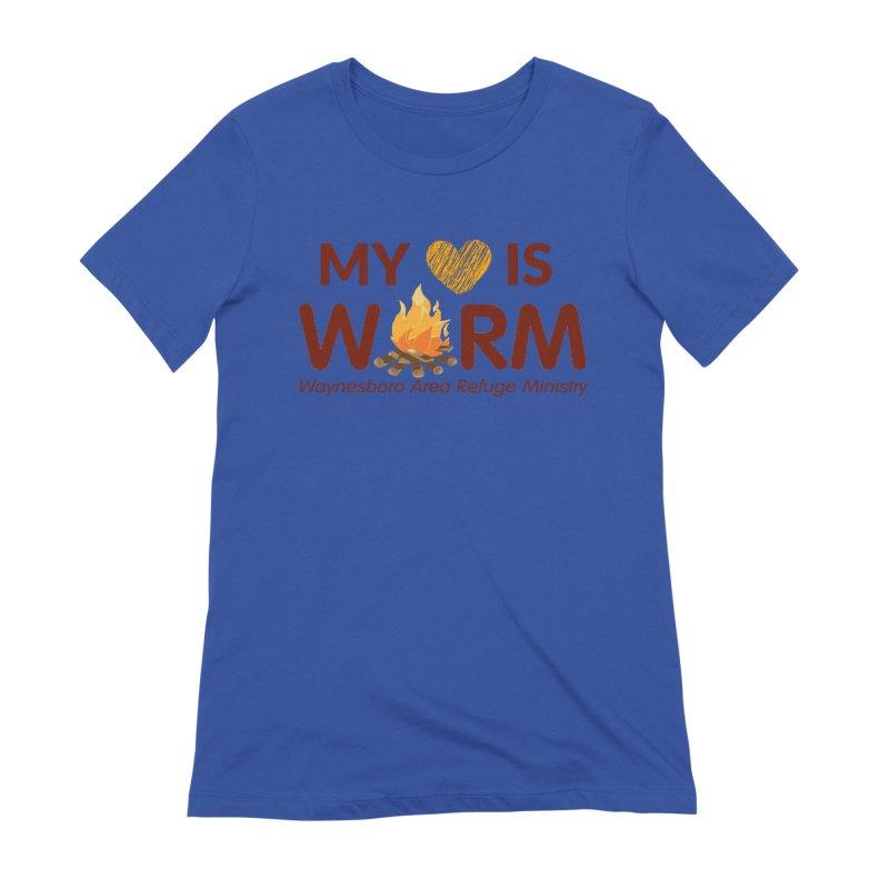My heart is WARM Women's Extra Soft T-Shirt by warmwaynesboro's Artist Shop