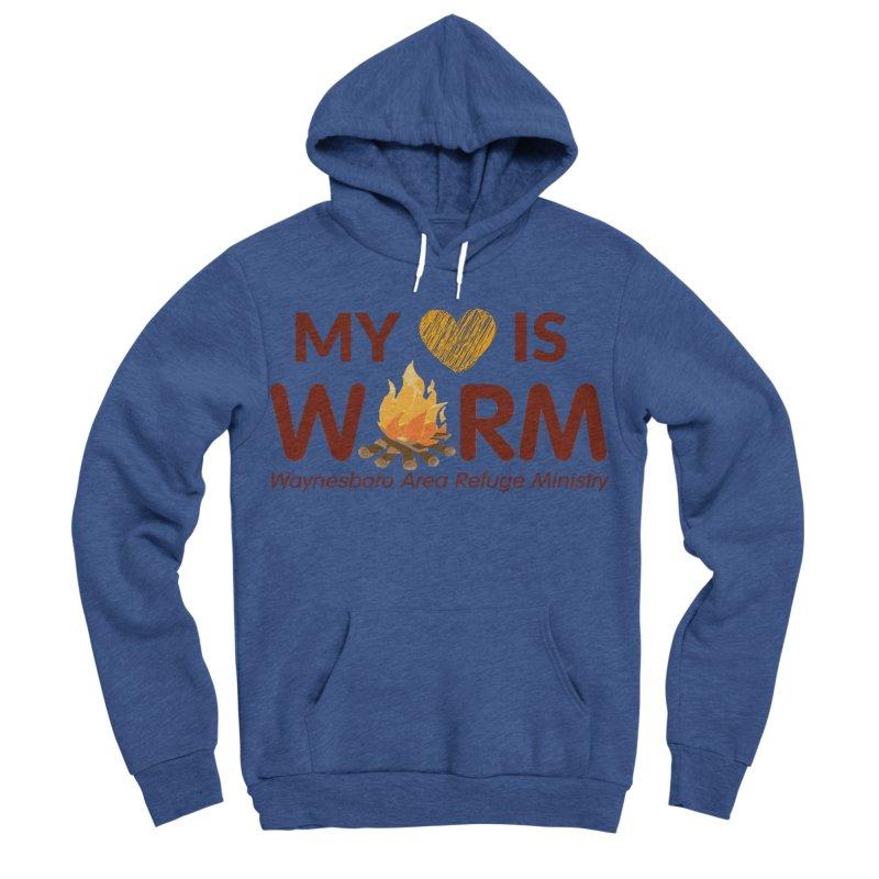 My heart is WARM Men's Sponge Fleece Pullover Hoody by warmwaynesboro's Artist Shop
