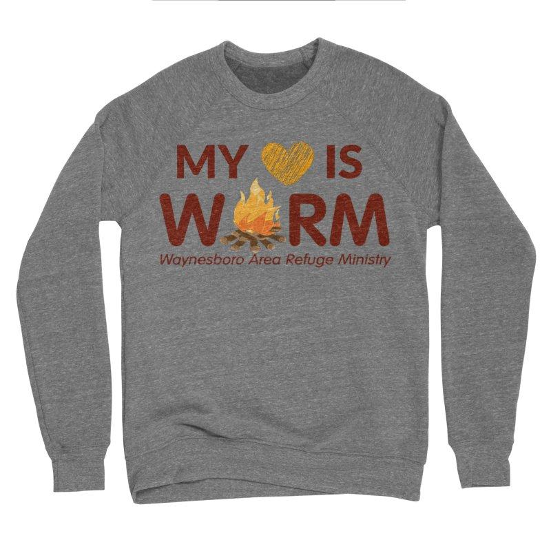 My heart is WARM Men's Sponge Fleece Sweatshirt by warmwaynesboro's Artist Shop