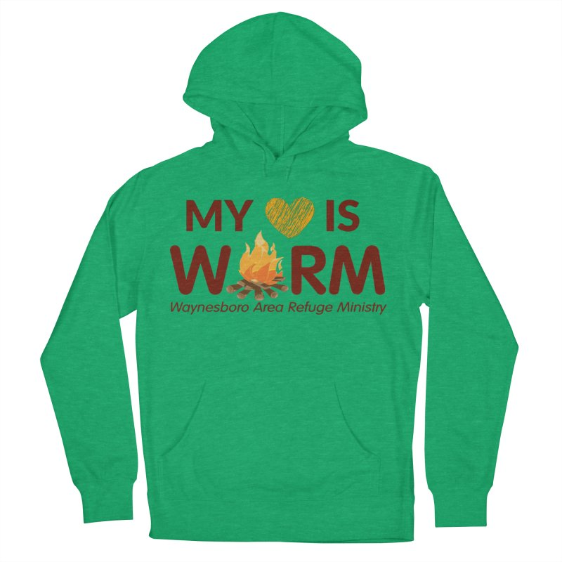 My heart is WARM Women's French Terry Pullover Hoody by warmwaynesboro's Artist Shop