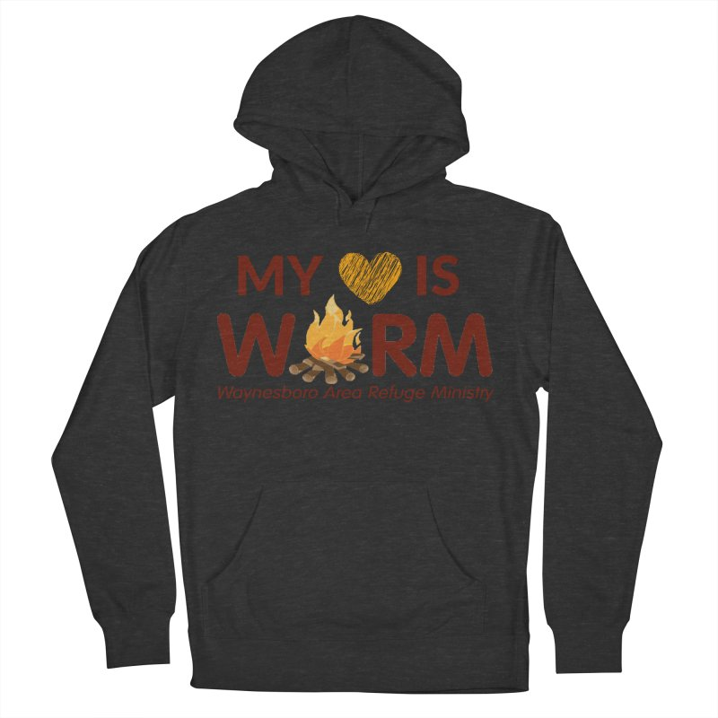 My heart is WARM Men's French Terry Pullover Hoody by warmwaynesboro's Artist Shop
