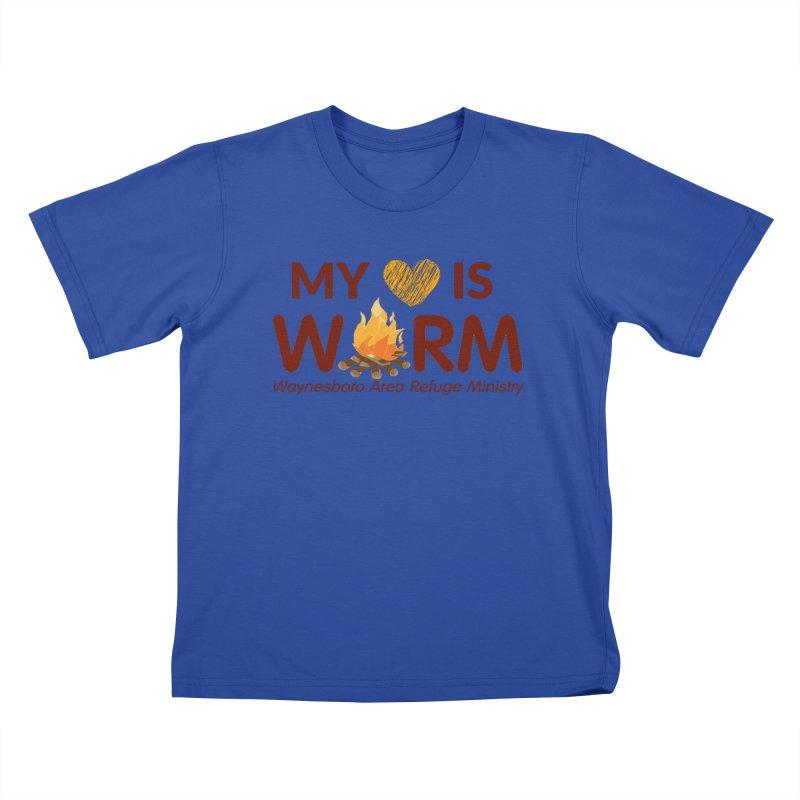 My heart is WARM Kids T-Shirt by warmwaynesboro's Artist Shop
