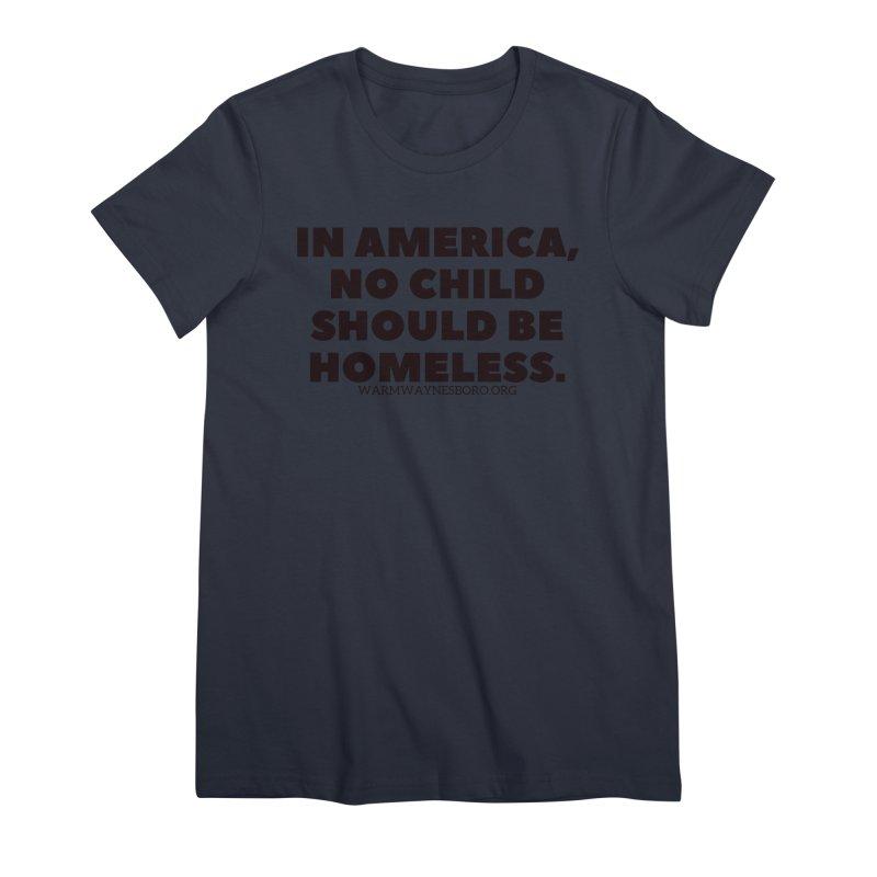 IN AMERICA Women's Premium T-Shirt by warmwaynesboro's Artist Shop