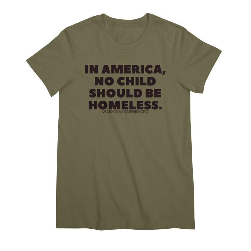 IN AMERICA Women's Premium T-Shirt by warmwaynesboro's Artist Shop