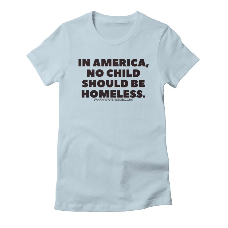 IN AMERICA Women's Fitted T-Shirt by warmwaynesboro's Artist Shop