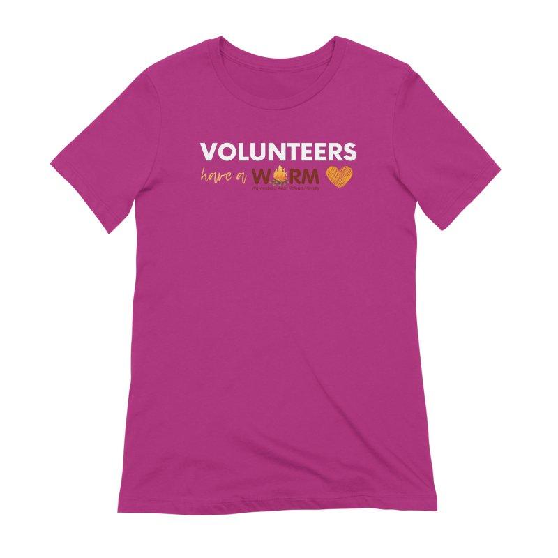 VOLUNTEER: WARM HEART Women's Extra Soft T-Shirt by warmwaynesboro's Artist Shop