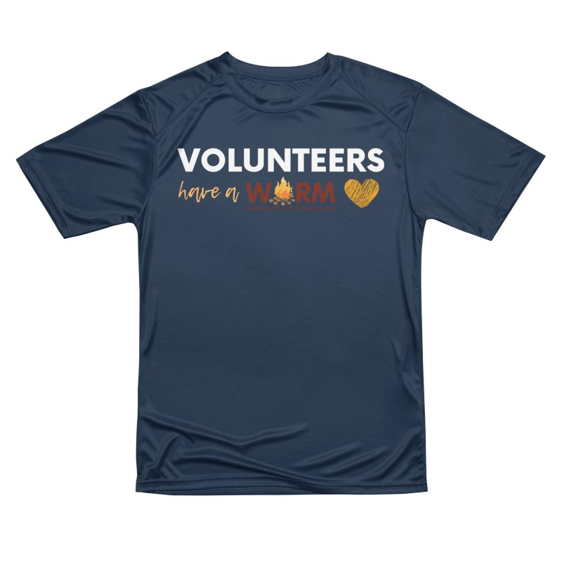 VOLUNTEER: WARM HEART Women's Performance Unisex T-Shirt by warmwaynesboro's Artist Shop
