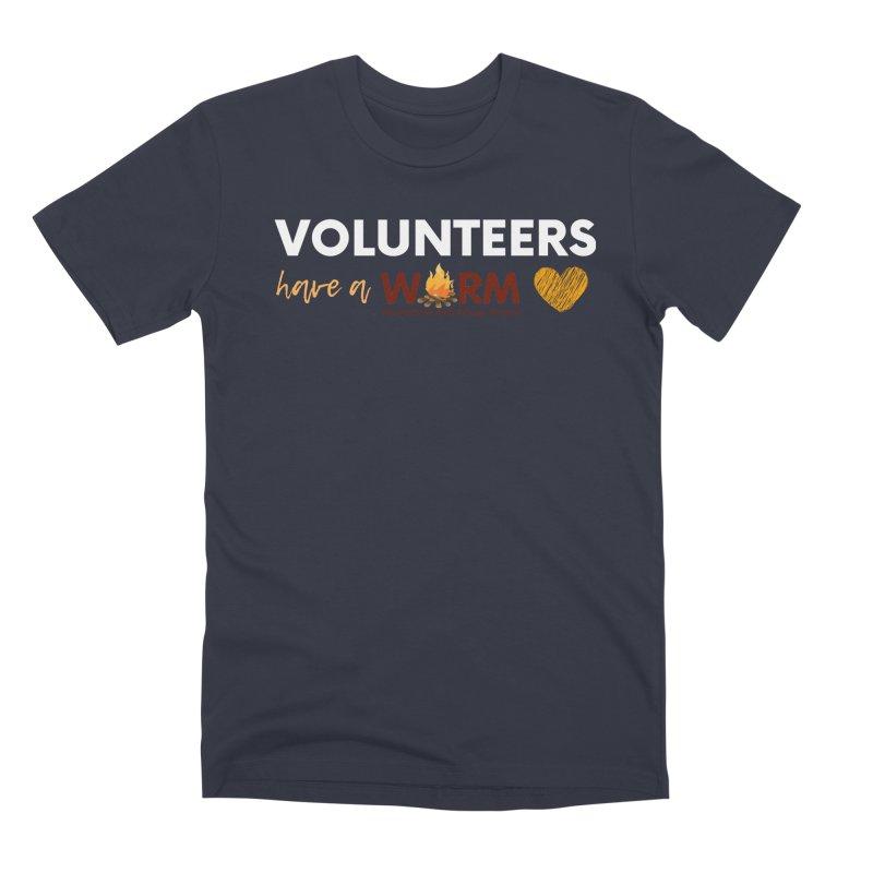 VOLUNTEER: WARM HEART Men's Premium T-Shirt by warmwaynesboro's Artist Shop