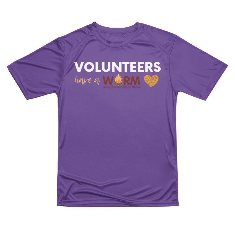 VOLUNTEER: WARM HEART Women's Performance Unisex T-Shirt by warmwaynesboro's Artist Shop