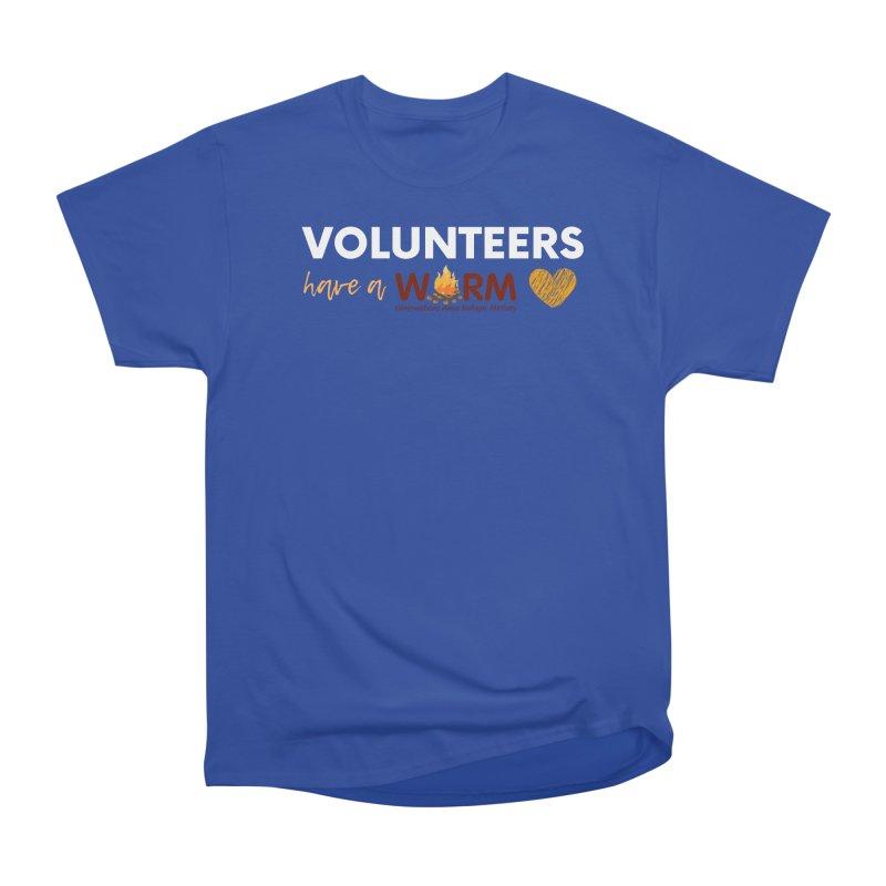 VOLUNTEER: WARM HEART Men's Heavyweight T-Shirt by warmwaynesboro's Artist Shop