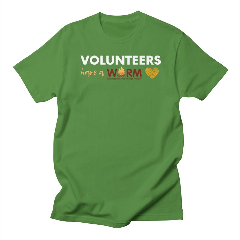 VOLUNTEER: WARM HEART Men's T-Shirt by warmwaynesboro's Artist Shop
