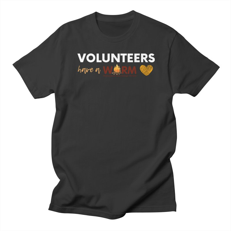 VOLUNTEER: WARM HEART Men's T-Shirt by warmwaynesboro's Artist Shop