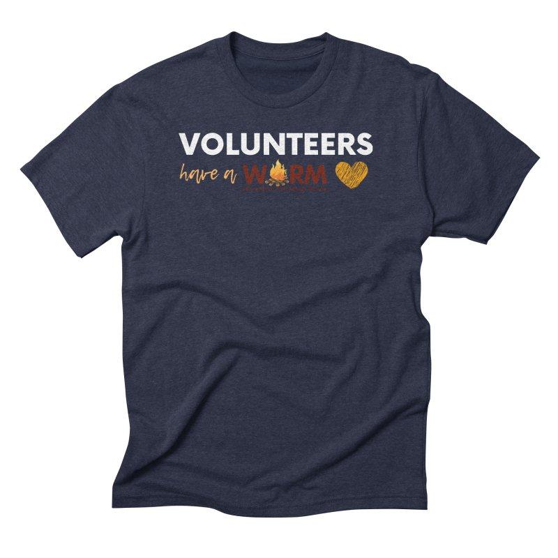 VOLUNTEER: WARM HEART Men's Triblend T-Shirt by warmwaynesboro's Artist Shop