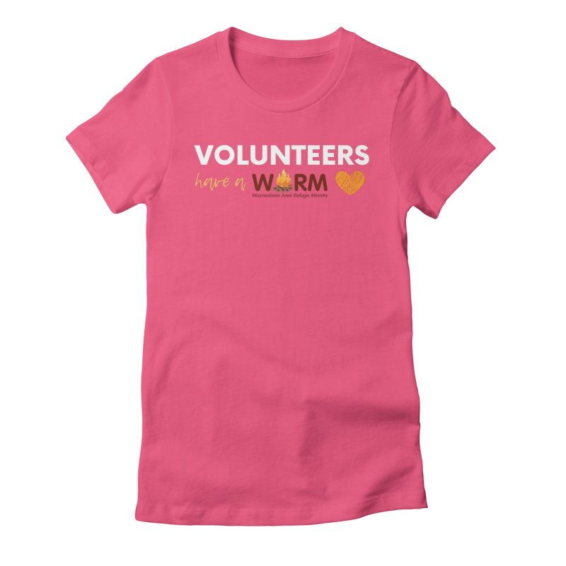 VOLUNTEER: WARM HEART Women's Fitted T-Shirt by warmwaynesboro's Artist Shop